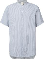 Baldwin , Mandarin Collar Shirt Men Cotton S, Blue