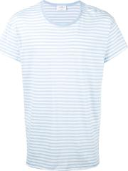 The White Briefs , Sunset Stripe T Shirt Men Organic Cotton L, Blue