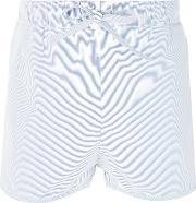 The White Briefs , 'wolf' Pique Shorts Men Organic Cotton M, Blue