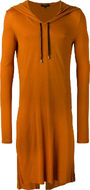 Unconditional , Hooded Tails T Shirt Men Rayon Xl, Yelloworange