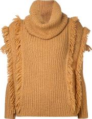 Kitx , Fringe Knit Women Alpaca Ml, Yelloworange