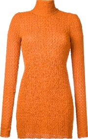 Kitx , Roll Neck Blouse Women Spandexelastaneviscose 8, Yelloworange