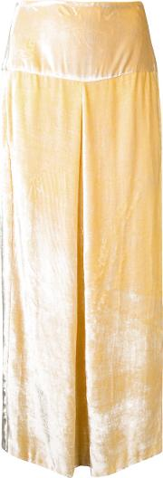 Kitx , Velvet Box Trousers Women Silkcottonspandexelastanetencel 6, Yelloworange