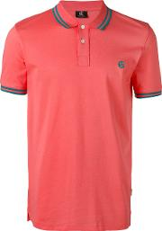 Ps By Paul Smith , Logo Embroidered Polo Shirt Men Cotton L, Yelloworange