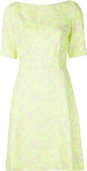Lela Rose , Floral Print Structured Dress Women Cottonpolyester 10, Yelloworange