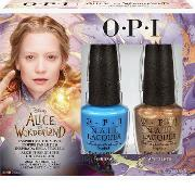 Alice , Opi Nail Lacquer  In Wonderland Collection  Duo Pack