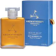 Aromatherapy Associates , Deep Relax Bath & Shower Oil 55ml
