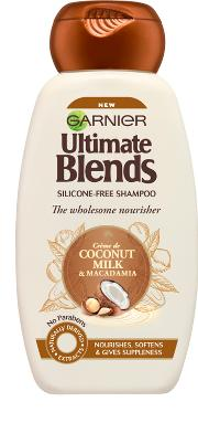 Blend , Garnier Ultimate S Coconut Milk & Macadamia Shampoo 250ml