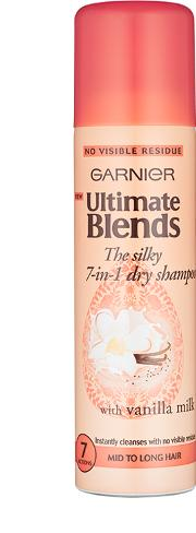 Blend , Garnier Ultimate S Silky Smoother Dry Shampoo 150ml