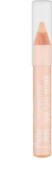 Gold , Rimmel Brow This Way  Shimmer Highlighting Pencil 1.4g