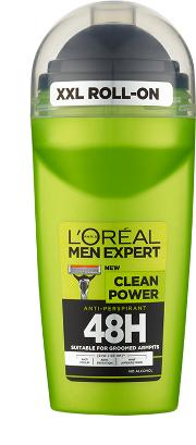 Loreal , L'oreal Paris Men Expert Clean Power 48h Roll On Anti Perspirant 50ml