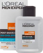Loreal , L'oreal Paris Men Expert Hydra Energetic Post Shave Gel Ice Cool Soothing Effect 100ml