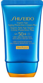 Plus , Shiseido Wetforce Expert Sun Aging Protection Cream  Spf 50 50ml