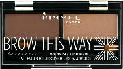 Rimmel , Brow This Way Eyebrow Kit 3.3g