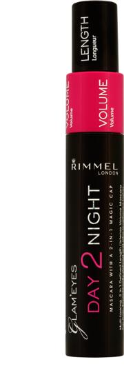 Rimmel , Day 2 Night Mascara Black 9.5ml