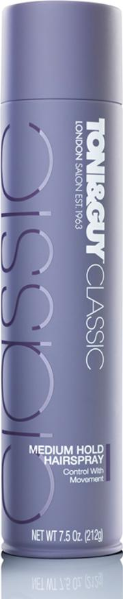 Toni & Guy , Classic Medium Hold Hairspray 250ml