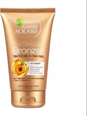 Ambre Solaire No Streaks Bronzer Tinted Self Tan Gel 150ml