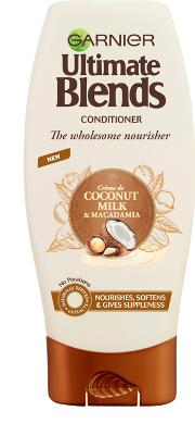 Blend , Garnier Ultimate S Coconut Milk & Macadamia Conditioner 200ml