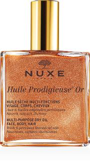 Gold , Nuxe Huile Prodigieuse Or Multi Usage Dry Oil En Shimmer 100ml