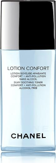 Comfort , Chanel Lotion Confort Silky Soothing Toner  Anti Pollution Alcohol Free 200ml