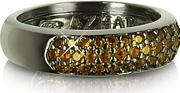 Azhar ,  Yellow Cubic Zirconia And Sterling Silver Ring