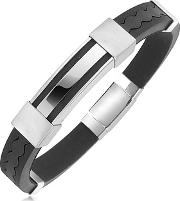 Forzieri ,  Rubber And Stainless Steel Bracelet