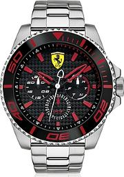 Ferrari ,  Xx Kers Silver And Red Stainless Steel Men's Watch