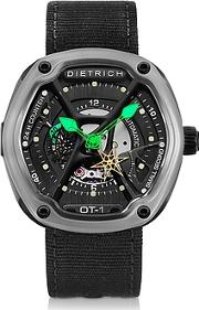 Dietrich ,  Ot-1 316l Steel Men's Watch Wgreen Luminova And Nylon Strap