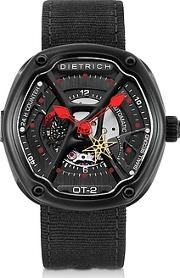 Dietrich ,  Ot-2 316l Steel Men's Watch Wred Luminova And Nylon Strap