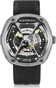 Dietrich ,  Ot-3 316l Steel Men's Watch Wyellow Luminova And Nylon Strap
