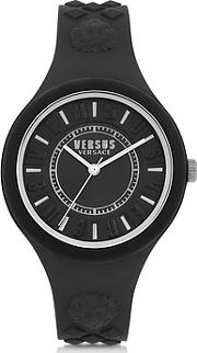 Versace Versus ,  Fire Island Silicon And Silver Tone Stainless Steel Women's Watch