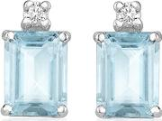 Incanto Royale ,  Aquamarine And Diamond 18k Gold Earrings