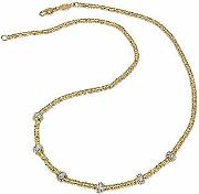 Torrini ,  Rondelle Moving Mini - 18k Yellow Gold And Diamond Necklace
