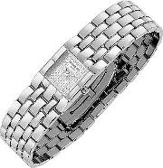 Raymond Weil ,  Ladies' Diamond Pave Dial Stainless Steel Watch