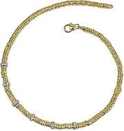 Torrini ,  Rondelle Moving Big - 18k Yellow Gold And Diamond Necklace