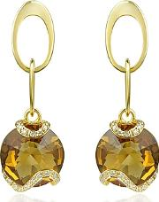 Incanto Royale ,  Citrine And Diamond 18k Gold Earrings
