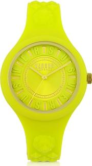 Versace Versus ,  Fire Island Silicon And Gold Tone Stainless Steel Women's Watch