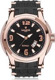 Lancaster ,  Bongo Tempo Stainless Steel Men's Watch W Rubber Strap