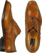 Moreschi ,  Oxford - Tan Calfskin Wingtip Shoes