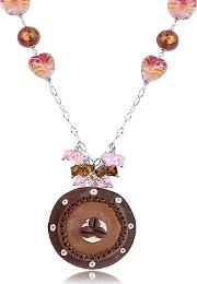 Dolci Gioie ,  Sterling Silver Chocolate Cake Necklace