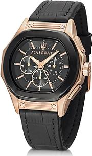 Maserati ,  Fuoriclasse Multi-function Dial And Black Eco-leather Strap Men's Watch