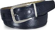 Moreschi ,  Lione Navy Blue Peccary And Leather Belt