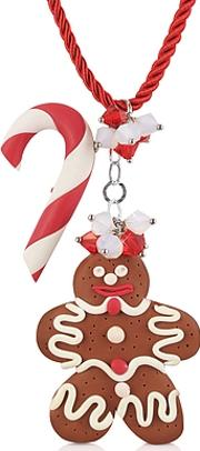 Dolci Gioie ,  Candy Cane & Gingerbread Man Necklace