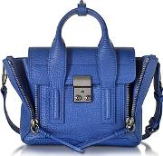 31 Phillip Lim , 3.1 Phillip Lim - Cobalt Blue Leather Pashli Mini Satchel