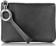 Alexander Wang ,  Riot Black Refined Pebble Leather Pouch