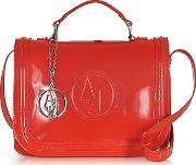 Armani Jeans ,  Red Patent Eco Leather Shoulder Bag