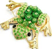 Az Collection ,  Green Frog Brooch