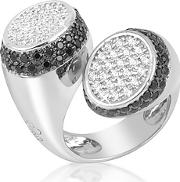 Azhar ,  Black And White Contrarie' Ring