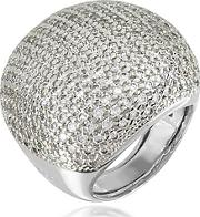 Azhar ,  Large Cubic Zirconia Sterling Silver Cocktail Ring
