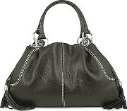 Buti ,  Black Pebble Italian Leather Satchel Bag